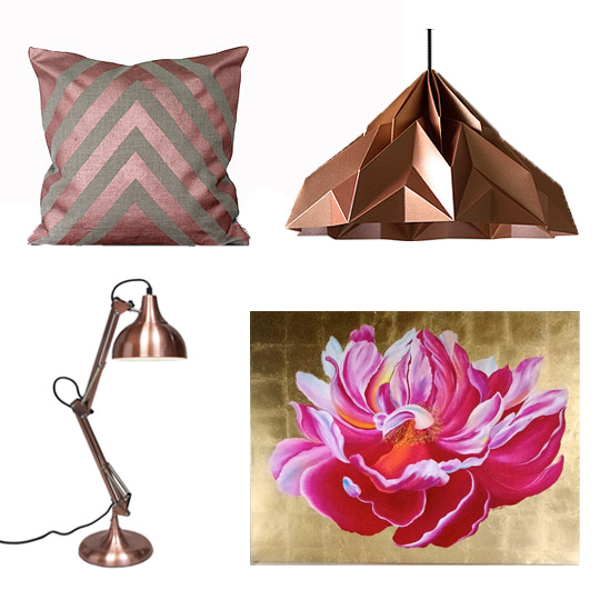 Copper Blush Accessories in Pink and Gold Hues