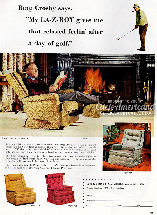 La-Z-Boy Bing Crosby Advert