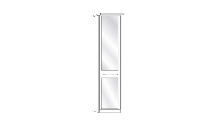 1 Door 1 Mirror Wardrobe