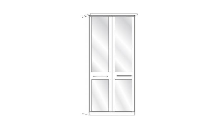 2 Door 2 Mirror Wardrobe