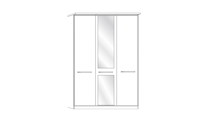 3 Door 1 Mirror Wardrobe