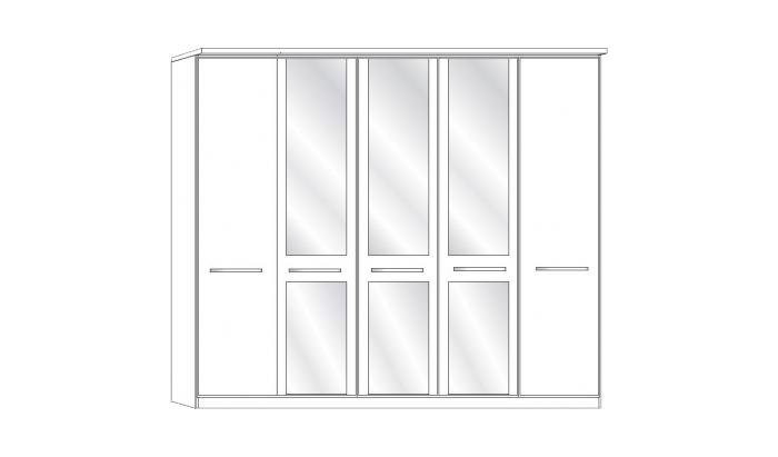 5 Door 3 Mirror Wardrobe