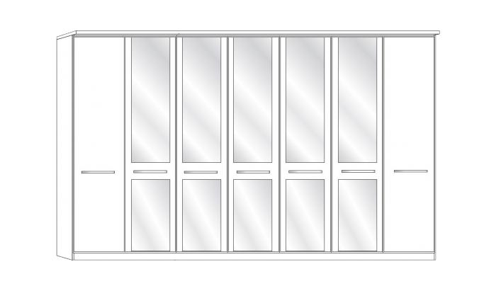 7 Door 5 Mirror Wardrobe