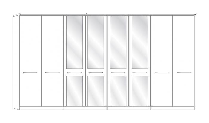 8 Door 4 Mirror Wardrobe