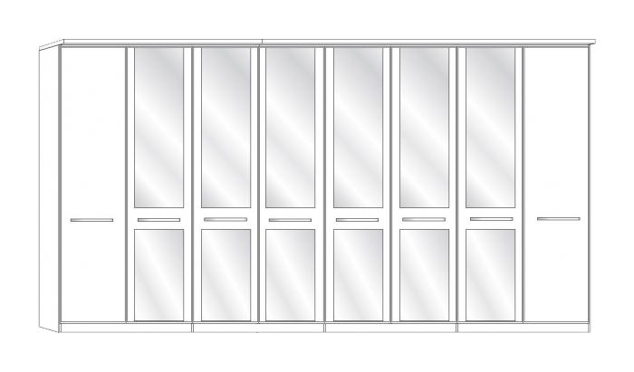 8 Door 6 Mirror Wardrobe