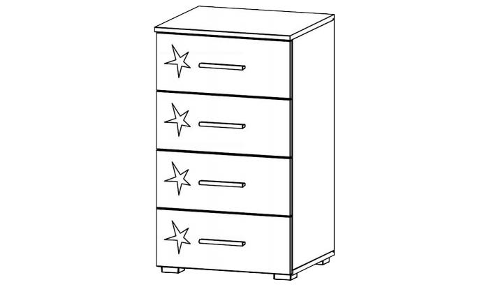 4 Drawer Narrow Chest